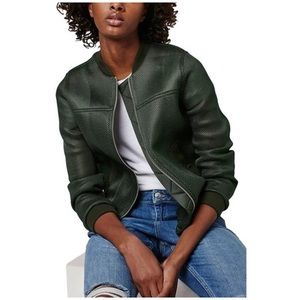 Topshop• green mesh bomber jacket